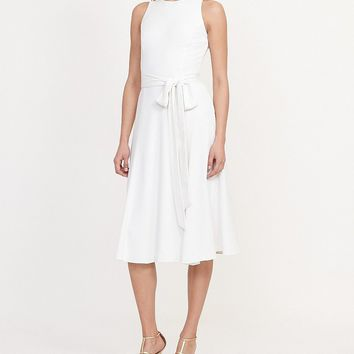 Lauren Ralph Lauren Midi A-Line Crepe Dress | Dillards