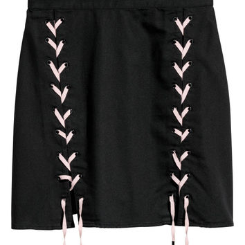 Skirt with Lacing - from H&M