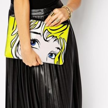 New Look Pop Art Clutch Bag