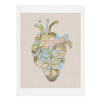 Bianca Green A Travelers Heart Art Print