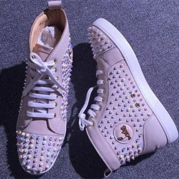 DCCK2 Cl Christian Louboutin Louis Spikes Style #1868 Sneakers Fashion Shoes