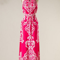 TO THE MAXI Pink White Halter Maxi Dress Shop Simply Me Boutique – Simply Me Boutique