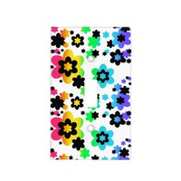 Rainbow Floral Teen Girl Bedroom Decorative Light Switch Cover