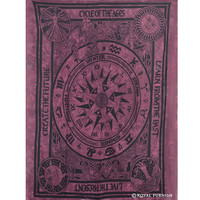 Twin Celtic Cycle of Ages Tie Dye Tapestry Wall Hanging Bedspread