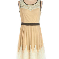 ModCloth Long Sleeveless A-line Cookie Connoisseur Dress