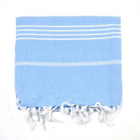 The Girl and The Water - Light Blue Beach Towel - $29