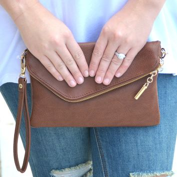 The Breanna Clutch - Brown