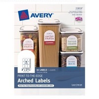 Avery Print-to-the-Edge Arched Labels, 2.25 x 3-Inches, Pack of 45 (22819)