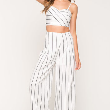 Two Piece Melrose Stripe Pant Set