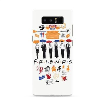 FRIENDS Collage Drawing Samsung Galaxy Note 8 Case