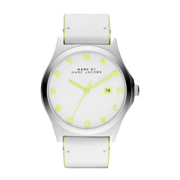 Marc Jacobs Men's 'Henry' Light Green/ White Watch
