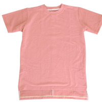 Reves Paris Zino Hi-Lo Elong Tee In Salmon