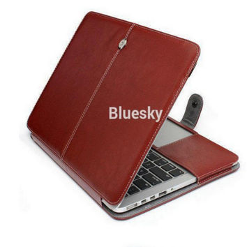 2016 New Fashion PU Leather Sleeve Case For Macbook Retina 13 A1502 Cover Protector for Mac book Pro with Retina 15 A1398