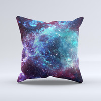 The Trippy Space ink-Fuzed Decorative Throw Pillow