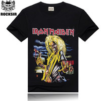 Iron Maiden AC/DC Metallica Led Zepellin Wolf Rock and Roll Tee T-Shirt