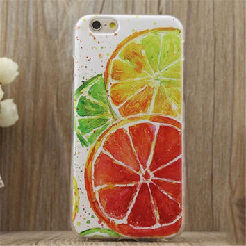 Lemon Print Summer iPhone 5/5S/6/6S/6 Plus/6S Plus Case Gift Very Light Case-22