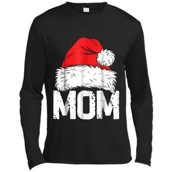 Mom Christmas Santa Family Matching Pajamas Mama PJs Long Sleeve Moisture Absorbing Shirt