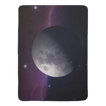 The Moon on Baby Blanket