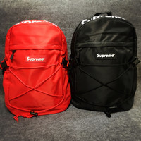 Supreme Canvas Backpack College School Bag Travel Bag