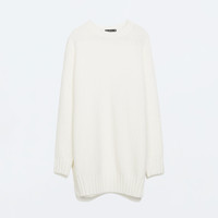 LONG SWEATER WITH SIDE SLITS Pictures