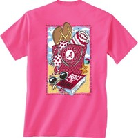 Alabama Beach Bag SS Tee - Hot Pink