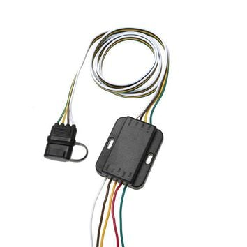 4 Pin 12V US Trailer Hitch Wiring Tow Harness Power Controller Plug American Modified Trailer Plug for  for Trailers, RVs