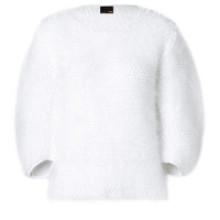 Fendi - Angora-Wool Blend Pullover in White