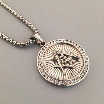 Boys & Men Fashion Hip Hop Freemasons Necklace