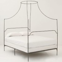 Italian Campaign Canopy Bed by Anthropologie Black