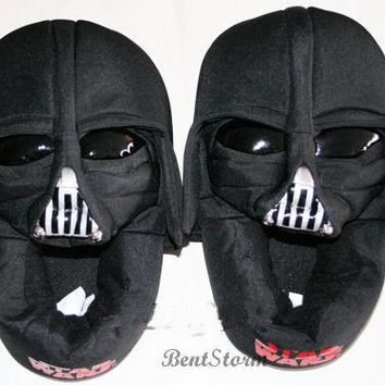 Licensed cool NEW Star Wars DARTH VADER Soft Plush Slippers House Shoes KIDS 13/1 2/3 4/5 NWT