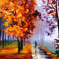 "Lilac Fog  —  Oil Painting On Canvas By Leonid Afremov. Size: 40""x30"""