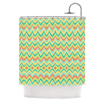 "Pom Graphic Design ""Bright and Bold"" Shower Curtain"