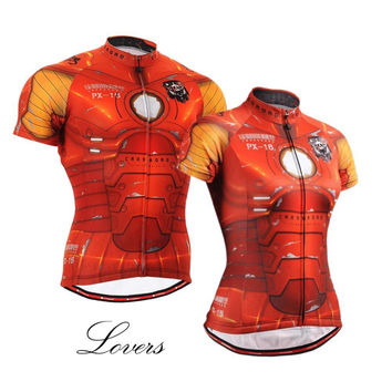 For Lovers Iron Man Unique Print Cycling Jerseys Outdoor MTB Road Bike Shirts Bicycle Clothing S-2XL Ropa