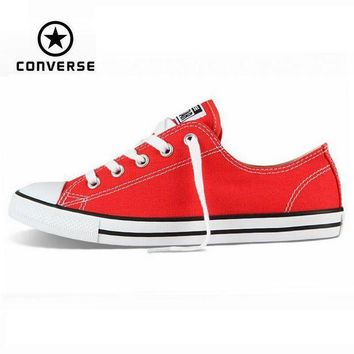 CREYUG7 Original Converse Chuck Taylor All Star Dainty sneakers women low canvas shoes for wom