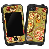 "Organic Floral Sage Paisley ""Protective Decal Skin"" for LifeProof iPhone 4/4s Case"