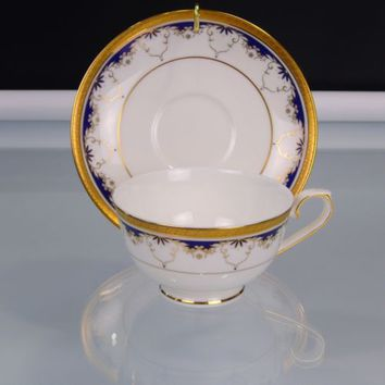Teavana Grand Prussian Tea Cup and Saucer Exclusive Collection Bone China