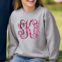 Monogrammed Youth Crewneck Sweatshirt | Baby & Kids | Marley Lilly