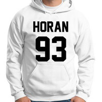 One Direction Hoodie Niall Horan 93 Hooded Sweatshirt Logo Black White Gray Red Maroon Unisex Hoodie Tee S,M,L,XL #1