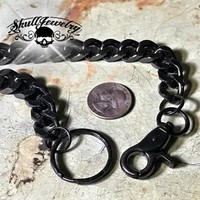 Big, Bold & Heavy Black Wallet Chain (WALLET_CHAIN013)