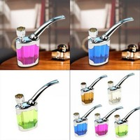 Great Useful Pipe Weed Pocket Size Mini Shisha Hookah Pipe Water Smoking Tobacco Pipe Hookah Filter