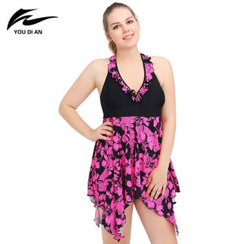 Plus Size Swimsuit 2016 One Piece Push Up swimwear Sexy Print Swimsuit Hot Sale Sexy Swimdress New Style