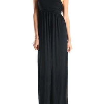 Casual Strapless Side Shirred Tube Summer Beach Maxi Long Dress
