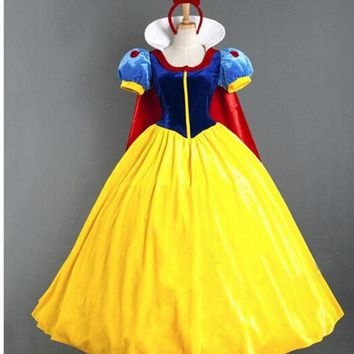 DCCKHY9 Women Adult Halloween Cartoon Princess Snow White Costume For Sale CO98321347