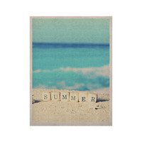 "Monika Strigel ""Summer at the Beach"" Blue Coastal KESS Naturals Canvas (Frame not Included)"
