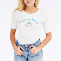 Truly Madly Deeply Peachy Keen Tee - Urban Outfitters