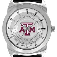 Men's Game Time Watches 'College Vintage - Texas A&M University' Faux Leather Strap Watch, 46mm - Texas A&m
