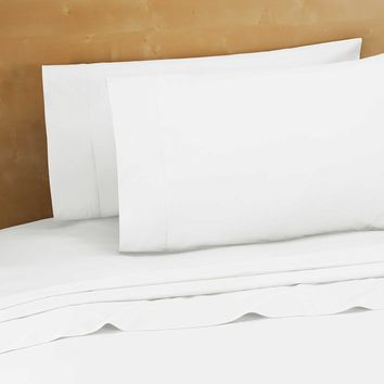 "4 Pack Twin size (66""x108"") Flat Sheet White T-250 Percale Hotel Linen Breathable, Extra Soft and Comfortable - Wrinkle, Fade and Stain Resistant"