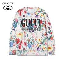 GUCCI autumn and winter explosion version full printed casual loose sweater