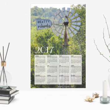 2017 Rustic Country Photo Calendar, Beatty Pump