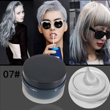 Hair Styling Pomade Women Men Hair Tool Hair Modeling Temporary Hair Dye Cream Wax Mud Cream